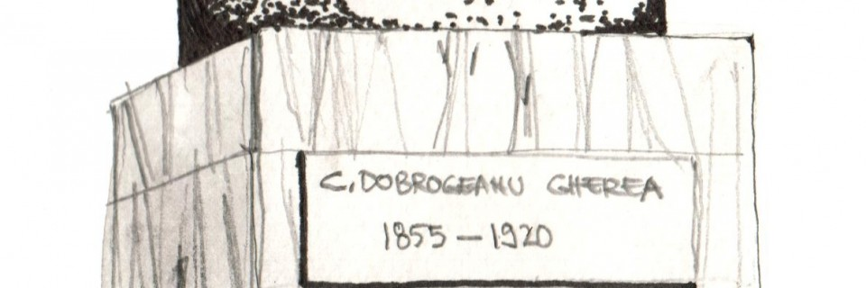 Bustul lui Constantin Dobrogeanu Gherea / Constantin Dobrogeanu Gherea Bust